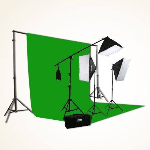 ePhoto ChromaKey Green Screen Background Kit & Best Green Screen For Twitch Streaming | Recording Youtube Videos azcodes.com