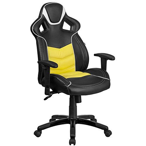 this chair features a design giving you additional level of comfort when you play your favorite computer game