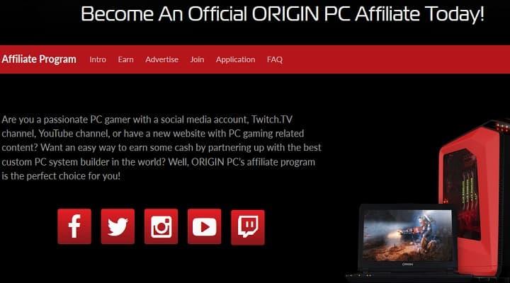 OriginPC Affiliate