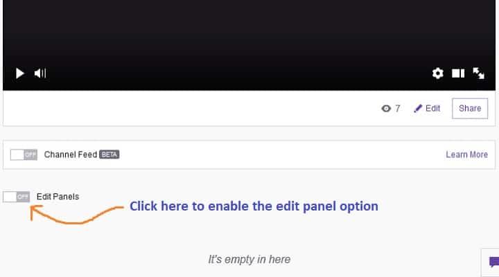 edit twitch panel